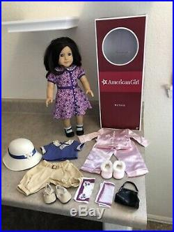 American Girl Ruthie Doll 18 with Purple Dress, PJ's and Play Outfit