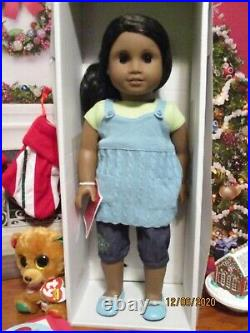American Girl SONALI Doll New in Box 3, Full Meet Outfit and Book