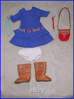 American Girl Saige Doll Lot Pierced Ears Outfits