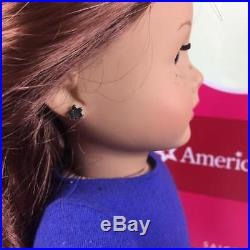American Girl Saige Doll with Outfit, Pierced Ears, Dog, Box
