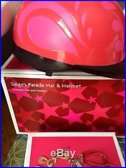 American Girl Saige Sage Doll GOTY 2013 Helmet Hat Outfits Accessories Books Box