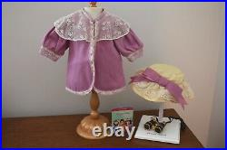 American Girl Samantha Bird-Watching Outfit Coat Hat Binoculars Pink Mauve