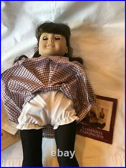 American Girl Samantha Doll, Pleasant Company Original Outfit & Book Retired