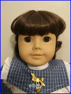 American Girl Samantha Doll Pleasant Company in Play Outfit, Meet Outfit 1990's