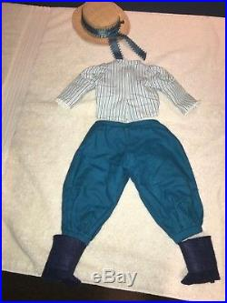 American Girl Samantha Doll Rare Bicycling Outfit Hat Bloomers Blouse Gaiters