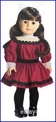 American Girl Samantha Parkington 18 Doll Book Set Bonus Dress & Coat Outfit