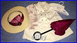 American Girl Samantha Travel Outfit Set with Duster, Hat, Ribbon, Parasol