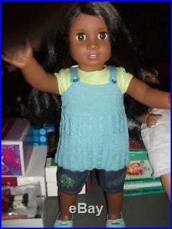 American Girl Sonali Doll Complete Meet outfit, book Free Ship With Buy It Now