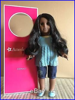 American Girl Sonali With Meet Outfit, Book And Box Goty