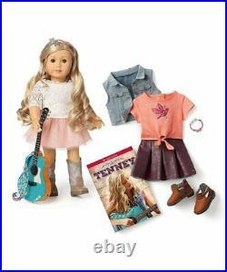 American Girl TENNEY GRANT Doll Set Book Spotlight Outfit Guitar Tenny LOGAN