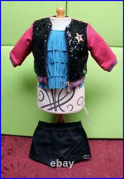 American Girl TENNEY GRANT Sequined Tour Jacket, Fringed Top, Tour Outfit Shorts