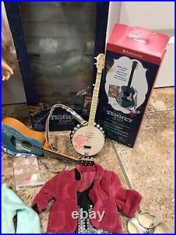 American Girl Tenney Grant Huge Lot Outfits Guitar Banjo Dog Picnic Set Reduced