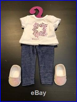 American Girl Truly Me Doll #40 NEW NO BOX +3 Outfits & Black Puppy withoutfit