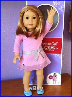 American Girl Truly Me doll #37 short red hair green eyes, freckles, box, outfit