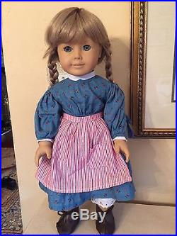 American Girl WHITE BODY KIRSTEN Doll PLEASANT COMPANY Meet Outfit! Tagged1986