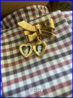American Girl White Body Samantha Doll 1986 Original Outfit West Germany Locket