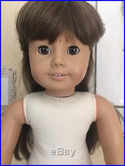 American Girl White body Samantha Pleasant Company In Meet Outfit / Acc 1986