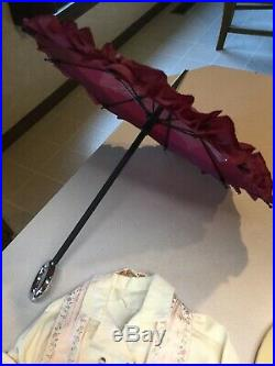 American Girl doll Samantha Duster Outfit travel valise parasol