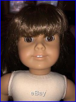 American Girl doll WHITE BODY Samantha with meet outfit, book, accessories RARE