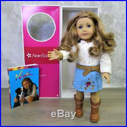 American Girl of Year DOLL NICKI Nikki In MEET OUTFIT Brown Hair Blue Eyes BOX