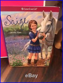 American girl Of The Year 2013 Saige With Meet Outfit & Meet Book + Her Hat