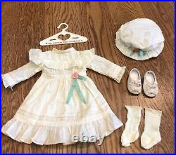 American girl Samantha lawn party outfit dress hat stockings shoes