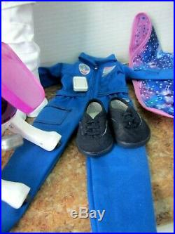 American girl doll Luciana and space suite, dog, nasa outfit etc. With boxes