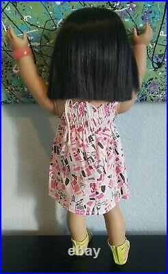 Asian American Girl Doll Ivy Ling Retired VGUC + AG Outfit in EUC