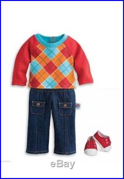 Blonde Bitty Twins Boy/Girl With Argyle Outfits And Box American Girl T2