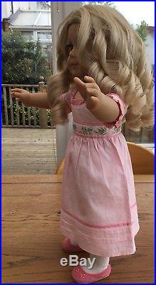 Blonde Ringlet Curly Haired Beauty American Girl Doll Caroline Full Meet Outfit