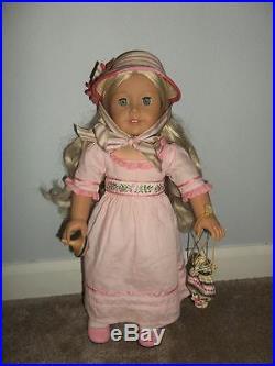 Caroline AG American Girl Historical Doll Retired 3 Outfits