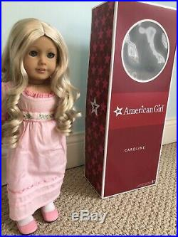 Caroline American Girl doll+ extra OUTFIT & PERFECT condition with box