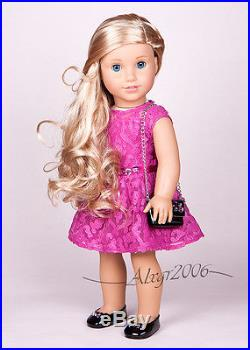 Custom American Girl Doll Grace Thomas with Tenney blond wig OOAK, new outfit