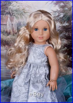 Custom American Girl Doll McKenna Caroline blond wig OOAK Journey doll outfit