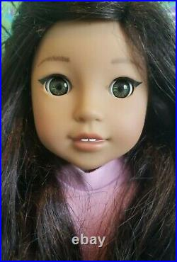 Custom American Girl Doll NANEA VGUC Face Up Brand New Outfit