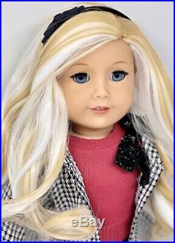 Custom CYO American Girl Doll Blue eyes, Caramel Blonde Hair, Holiday Outfit