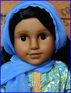 Custom India American Girl Doll OOAK Full Face Up Punjabi Salwar Indian Outfit