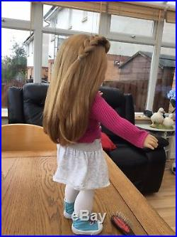 Difficult To Find American Girl Doll Mia Goty Retired In Full Meet Outfit