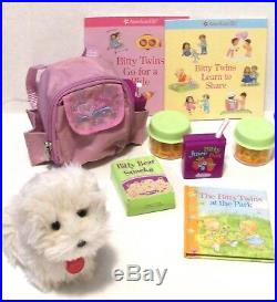 Dolls American Girl Bitty Baby Twins, Trundle Bed, 2 Outfits, PJ's Backpack Dog