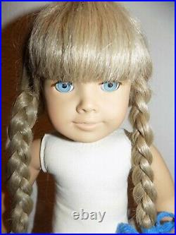 EARLY White Body Pleasant Co Kirsten American Girl Doll in Meet Outfit w Box