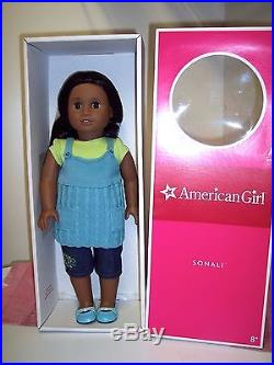 EUC American Girl Sonali Doll in Her Box Complete Meet Outfit too Beautiful Doll
