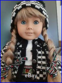 Early Kirsten Larson American Girl Doll White Body in winter outfit