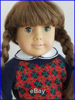Early Pleasant Company Molly WHITE BODY Doll from 1987 Dreamer withMeet Outfit