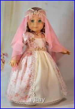 Enchanted Fairy Tale Dress Coat Outfit for 18 American Girl Doll Princess
