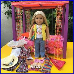 Gorgeous Hair! American Girl BeForever Julie Doll & Bed Extra Clothes Outfit Lot