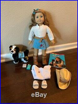 Gorgeous Retired American Girl of the Year 2007 Nikki doll + Outfits + Dog