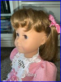 Gotz Puppe Modell 18 Doll All Vinyl W. Germany Tagged Outfit Pre American Girl