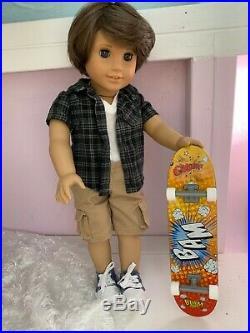 Green eye brown Custom american girl doll boy Rebecca outfits skateboard sports
