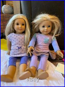 HUGE LOT from American Girl Doll includes 2 dolls, outfits, clothes & more! GUC