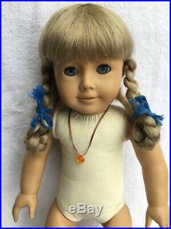 Historical 1854 Swedish American Girl Kirsten Doll In Meet Outfit Very Nice Lqqk
